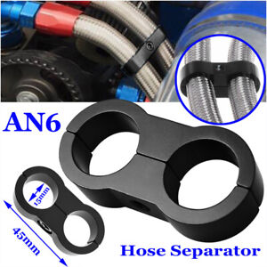 Braided 45mmfuel Line 6an Oil Gas Fuel Hose End Fitting Hose Separator Clamp Kit