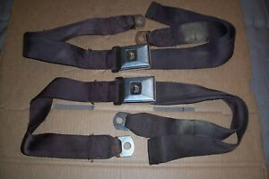 1967 1968 1969 Camaro Firebird Deluxe Rear Seat Belts 427 400 396 350 327 Ss Rs