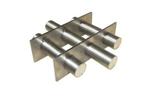 Industrial 7 Round Magnetic Hopper Grate With Rare Earth Magnets