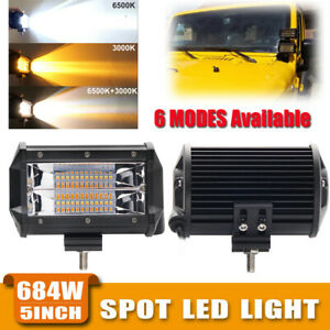 5 Inch Pods Strobe Led Work Light Spot Bar Off Road Fog Lamp 4wd Atv Suv