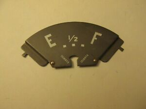 Chevy Fuel Gauge Face Plate 1949 1954 Truck