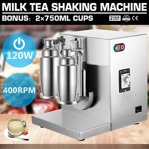 Bubble Boba Milk Tea Shaker Shaking Machine Mixer Beverage Home Stainless Bakery
