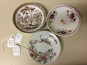 Antique Japanese Chinese Porcelain Saucer Lot Of 3