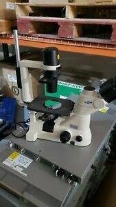 Nikon Eclipse Ts100 Inverted Microscope 10x Lens Elwd 0 3 T1 sncp Phase Slider