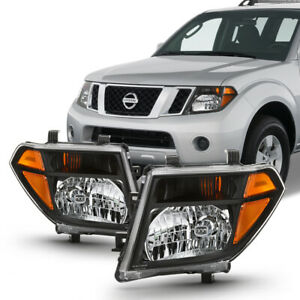 For Nissan 05 08 Frontier 05 07 Pathfinder Black Housing Amber Corner Headlight