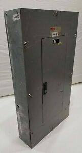 Cutler Hammer Panel With 40 Amp Main Breakers 120 208 Volt 3 Phase 4 Wire Ch