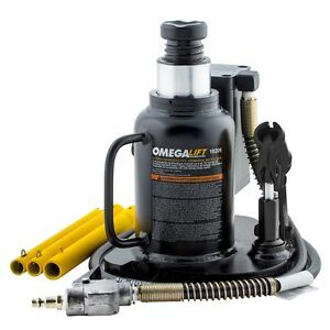 Omega 18209 20 Ton Low Profile Air Actuated Bottle Jack