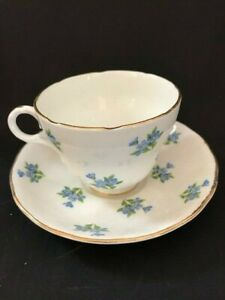 Vintage Crown Essex Bone China Cup And Saucer Made In England