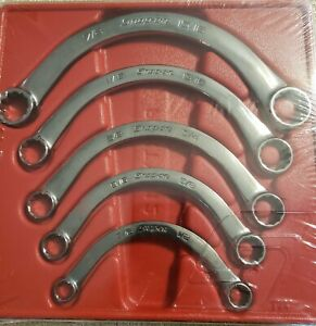 Snap On Sae Half Moon Box Wrench 5pc Set 7 16 15 16 Cx605 New