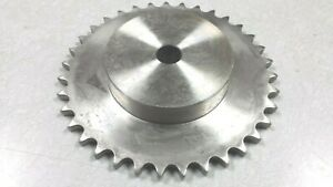 40b35ss Stainless Steel Ss40b35 Sprocket 5 8 Stock Bore No Keyway 35 Teeth New