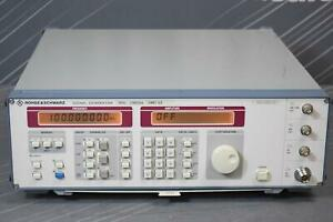 Rohde And Schwarz Smy02 9 Khz To 2 08 Ghz Signal Generator calibrated Mar 2019