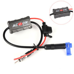 Universal Automobile Car Fm Am Radio Stereo Antenna Signal Amplifier Booster Bwh