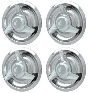 New Set Of 4 1967 1974 Chevy Rally Wheel Chrome Center Caps