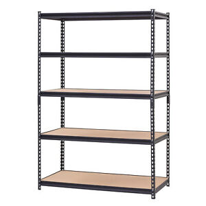 Rack Shelf Metal Storage Shelving 5 Tier Adjustable Unit Shelves Garage 4000lbs