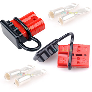 2 50a Battery Quick Connect Disconnect Wire Harness Plug Connector Winch Trailer
