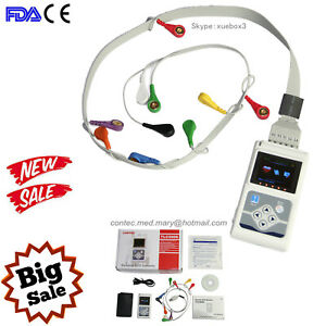 Us Seller Tlc5000 12 channel Ecg Holter Monitor System Software Analysis Ce Fda