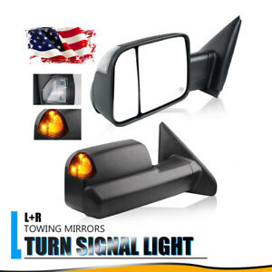Fit For 2002 08 Dodge Ram 1500 2500 3500 Tow Mirrors Power Heated Turn Signals