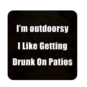 Drunk On Patio Sign Metal Outdoor Beach Pool Bar Party Wall Decor Plaque