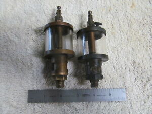 2 Vintage Machine Or Stationary Engine Drip Oilers Made By Essex Brass Corp