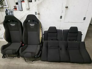 2012 2013 Ford Mustang Boss 302 Cloth Recaro Seats Front Back Oem