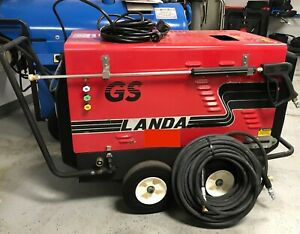 Used Landa 2 1000gs 115 Volt Diesel 2gpm 1000psi Hot Water Pressure Washer