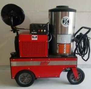 Used Hotsy 1285ssg Gas diesel 5gpm 3500psi Hot Water Pressure Washer Trailer