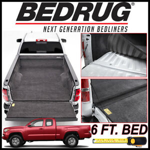 Bedrug Custom Fit Bed Liner Mat Fits 2005 2019 Toyota Tacoma With 6 Ft Bed