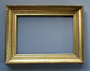 Antique 19th Century Victorian Era Gilt Wood Gesso Painting Frame