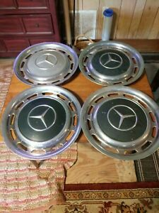 Four Vintage Mercedes Benz Wheel Cover Hub Cap Rim 14