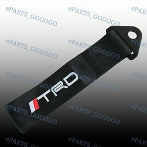 Black Jdm Trd Racing Tow Towing Strap Hook For Front Rear Bumper High Strength
