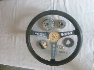 The 500 Vintage 1960 S Custom Steering Wheel With All Mounting Hdwr Black 14