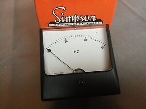 Simpson Analog Panel Meter 0 60hz 1327 0 1madc 0 60 Hz Hertz 88 0533 17210