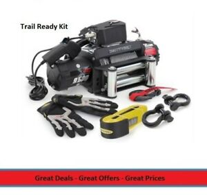 All in one Recovery Winch Kit 9500 Lbs Waterproof Winch Shackles Tow Strap
