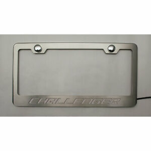 Acc Plate Frame W white Led challenger Logo Fits Challenger stainless Steel