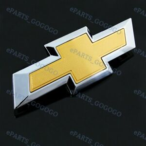 Chevy Chevrolet Impala Gold Rear Trunk Tailgate Bowtie Emblem For 2014 2018 New