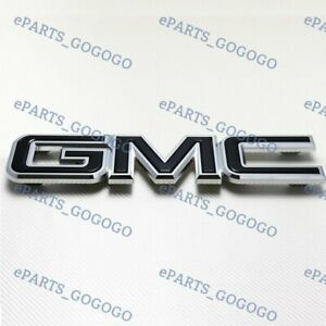 For Gmc Sierra 1500 2500hd 3500hd 2008 10 Black Front Grill Grille Emblem Badge