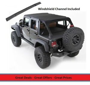 Bikini Extended Top W Windshield Channel For 10 17 Jeep Jk Wrangler 4 door