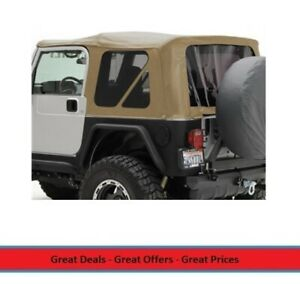 Replacement Soft Top With Tinted Windows For 97 06 Jeep Tj Wrangler Tan