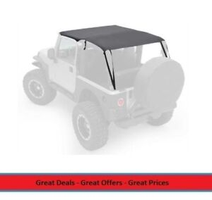 Extended Bikini Top For 97 06 Jeep Tj Wrangler Covers Front And Rear Seats