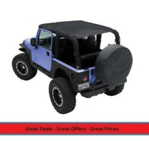 Extended Bikini Top For 97 06 Jeep Tj Wrangler Covers Front Rear Seats Mesh