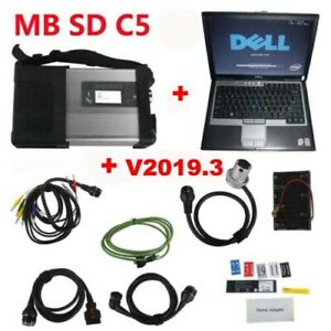 New Mb Star C5 Sd Conenct With 4gb Laptop D630 Diagnostic With V2019 3 Software