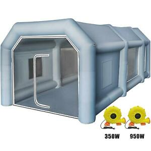 26x15x10ft Inflatable Spray Paint Booth Tent Car Workstation Filtration System