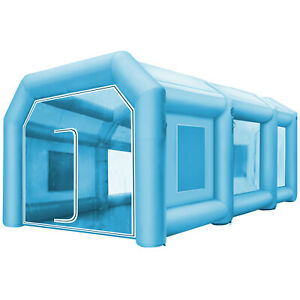 Spray Booth Inflatable Tent Car Paint Portable Cabin 2 Blowers 26ftx15ftx10ft