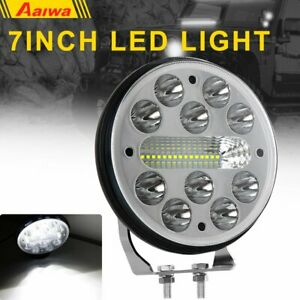 1x Round 7inch 75w Led Work Light Offroad Tractor Atv 4wd Suv Bumper Fog Pods