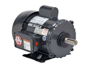 1 Hp Electric Motor 1725 Rpm New U s motor 56 Frame 110 220 Volts