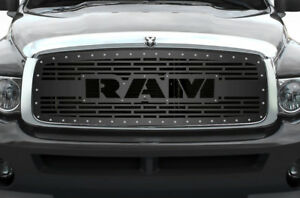 Custom Aftermarket Grille Ram For 2002 05 Dodge Ram Trucks 1500 2500 3500 Grill