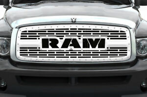Custom Steel Grille Kit For Dodge Ram 2002 05 1500 2500 3500 Truck Ram Ss Grill