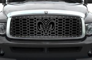 Custom Grille For 2002 2005 Dodge Ram Trucks 1500 2500 3500 Steel Grill Ram Head