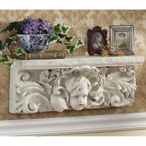 20 Italian Cathedral Sculptural Angel Baby Pediment Wall Shelf Hanging Decor