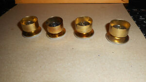 Vintage New Old Stock Metal Table Leg Feet Will Fit 1 O D Tubing Type Legs